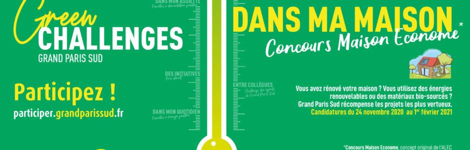 CONCOURS MAISON ÉCONOME 2020 : Habitants de Grand Paris Sud, inscrivez-vous !